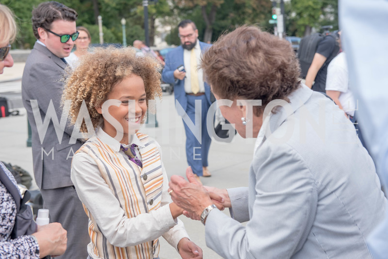 Levi Draheim, Rep. Jan Schakowsky, Activists and Members of Congress gather at the Supreme Court, with Plaintiffs from Juliana v. United States, as part of the Global Climate Strike.  September 18, 2019.  Photo by Ben Droz