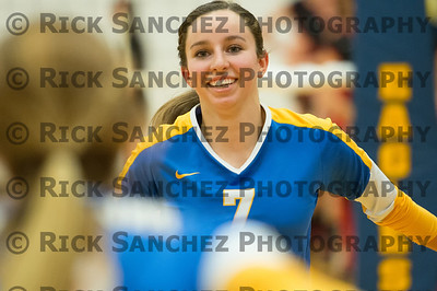 12-10-17 Sandburg Girls Volleyball vs LW Central Sr Night
