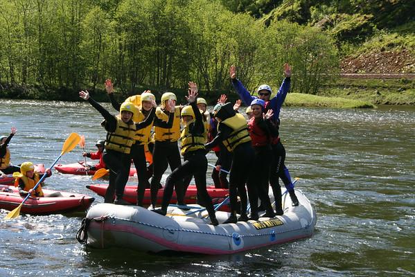 Rafting på Voss (Ungdomsgruppen)
