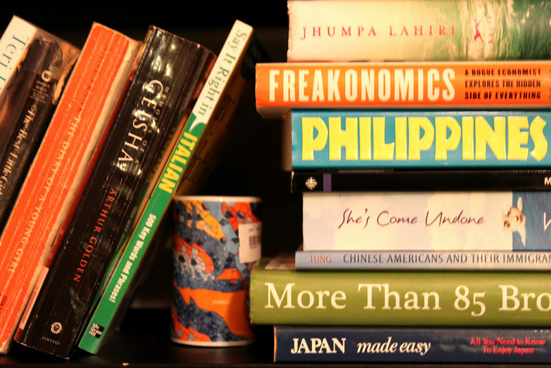 Books...on our bookcase.