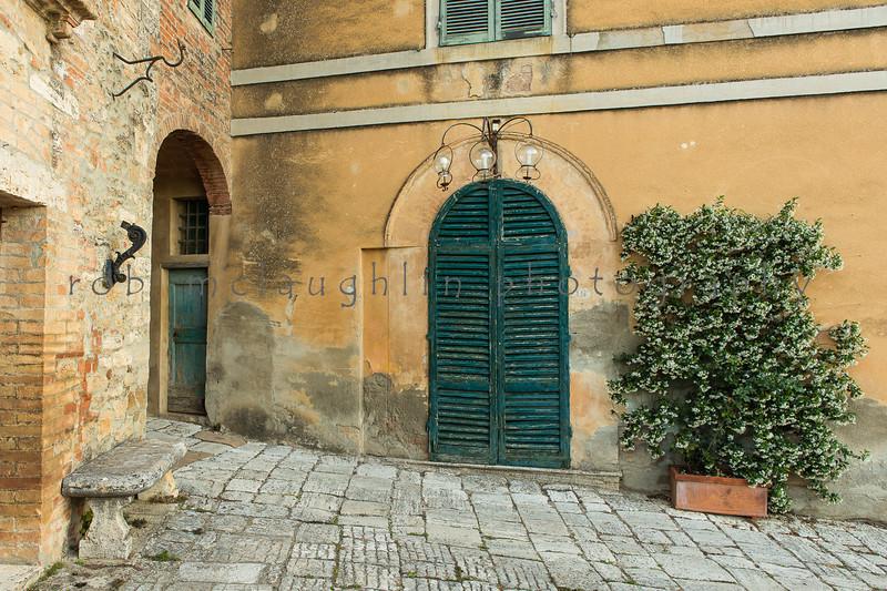 Three Globe Door #2 , Lucignano d'Asso , Tuscany