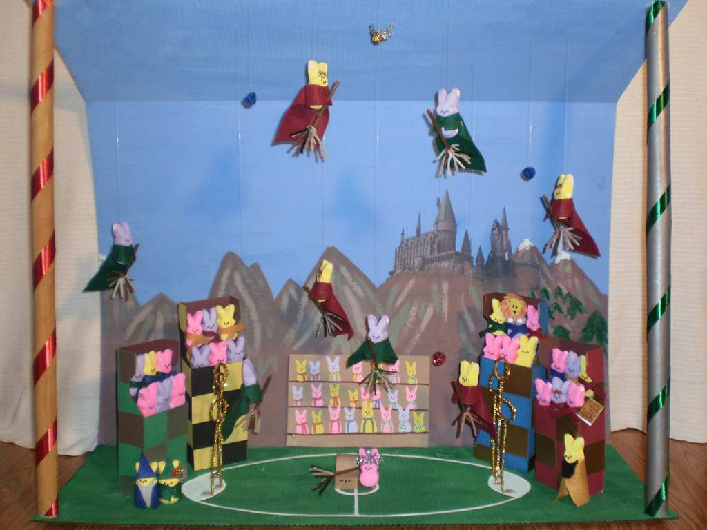 """. \""""Harry Potter and the Quidditch Peeps,\"""" by Mary Corporaal"""
