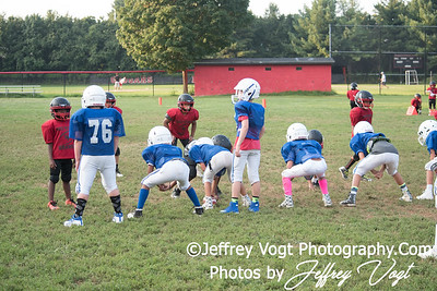 08-17-2017 North Potomac Braves Mighty Mites vs Maplewood Scrimmage at Quince Orchard HS, Photos by Jeffrey Vogt Photography