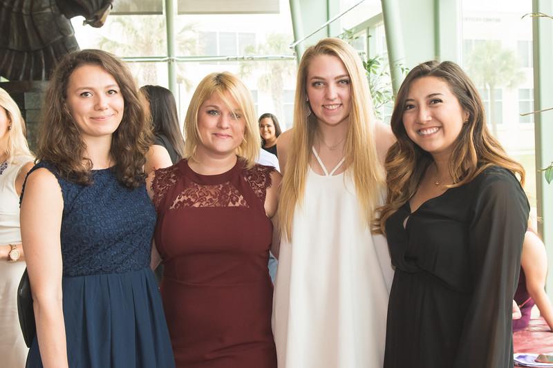 Julia Brock (left), Tanya Hill, Casey Becker, and Heather Robali.