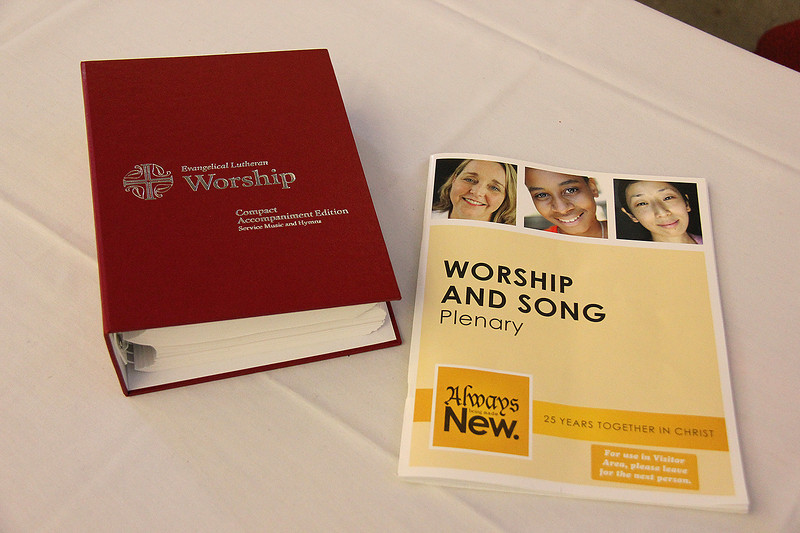 Worship books used during the Assembly.