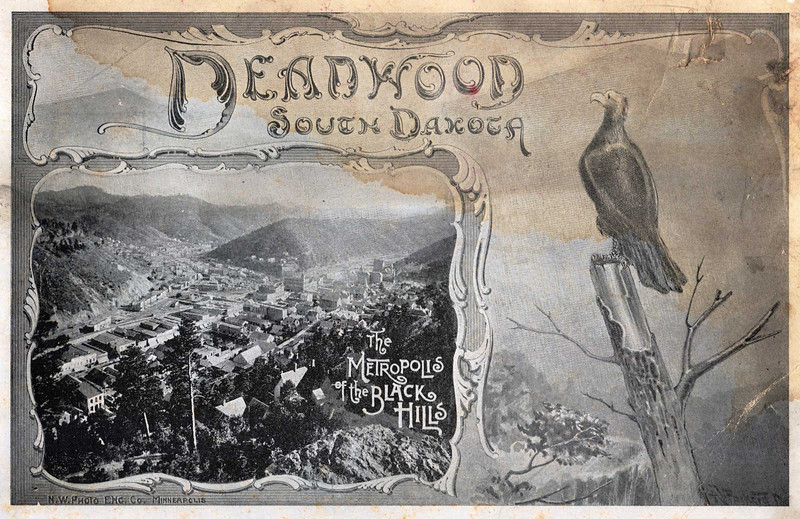 Cover of an 1892 travel brochure from the collection of Jerry Bryant, Deadwood.