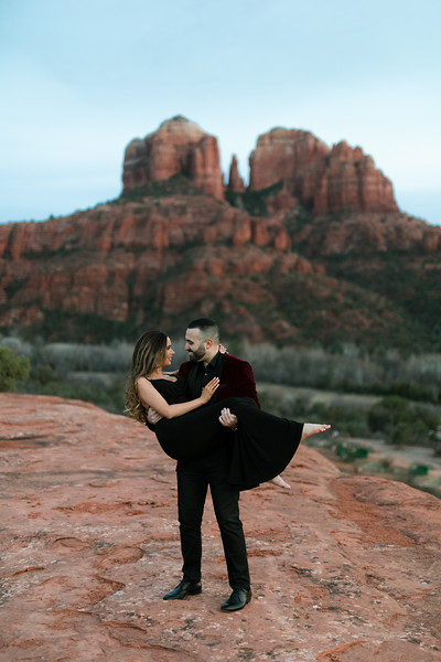 Paige & Brandon | Sedona Engagement