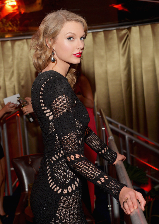 . BEVERLY HILLS, CA - JANUARY 12:  Singer Taylor Swift attends The Weinstein Company & Netflix\'s 2014 Golden Globes After Party presented by Bombardier, FIJI Water, Lexus, Laura Mercier, Marie Claire and Yucaipa Films at The Beverly Hilton Hotel on January 12, 2014 in Beverly Hills, California.  (Photo by Charley Gallay/Getty Images for The Weinstein Company)