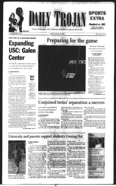Daily Trojan, Vol. 150, No. 32, October 10, 2003