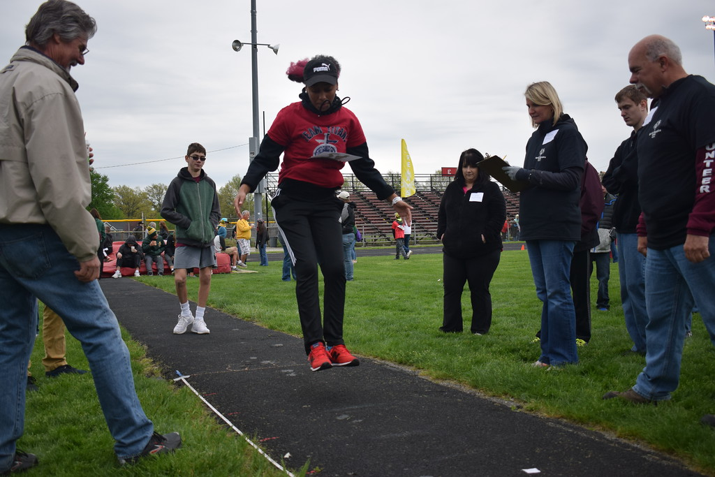 . Briana Contreras � The Morning Journal <br> A photo from the 38th Annual Lorain County Special Olympics May 11 at Ely Stadium in Elyria. The event welcomed 601 athletes of 16 different school districts in Lorain County.
