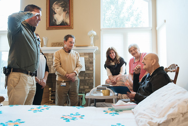 Honoring a Veteran Hospice Patient