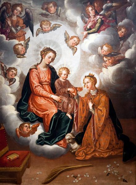 Los desposorios místicos de Santa Inés (The Mystical Wedding of Saint Agnes), by Francisco Pacheco, 1628. Fine Arts Museum, Seville, Spain