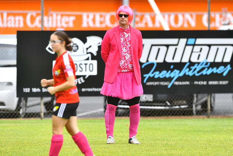 Pink Day at the soccer