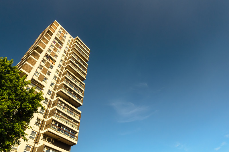 High rise council housing in London