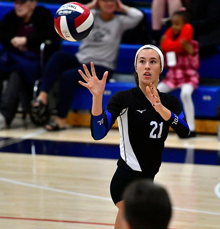 11/1/2018 Mike Orazzi | Staff Bristol Eastern's Aliana Rivoira (21) during the CCC Volleyball Tournament at Avon High School Thursday night.