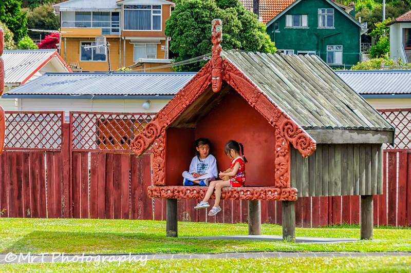Quiet play time Ohinemutu Village Rotorua
