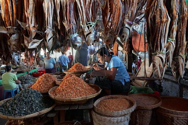 Marché aux poissons - Sittwe