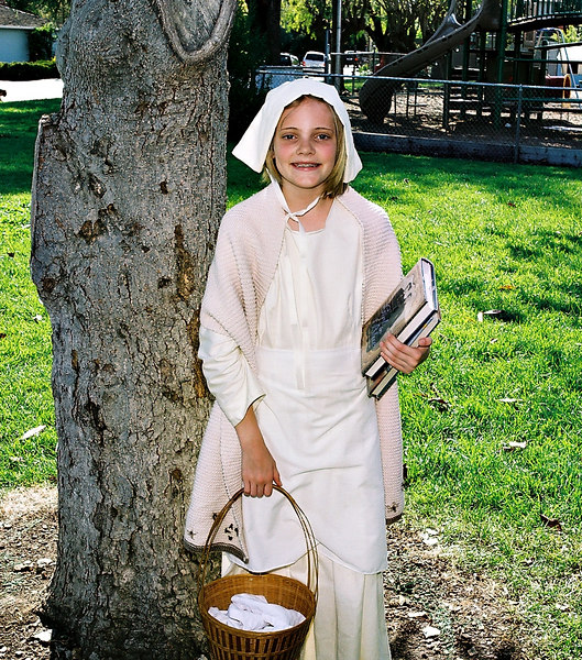 Emily on Colonial Day at her school.