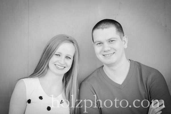 Lauren and Andrew B/W Engagement Photos