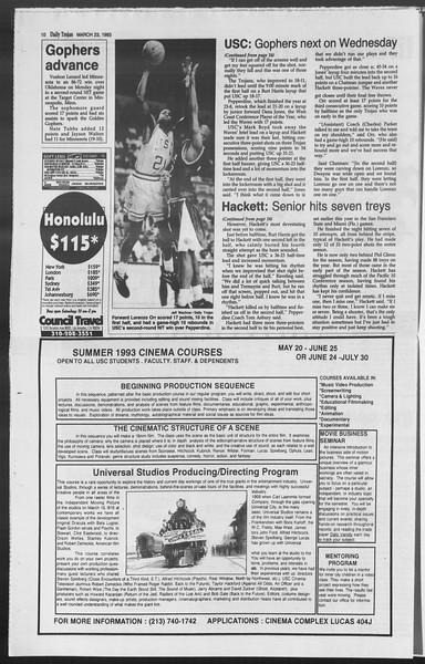 Daily Trojan, Vol. 119, No. 47, March 23, 1993