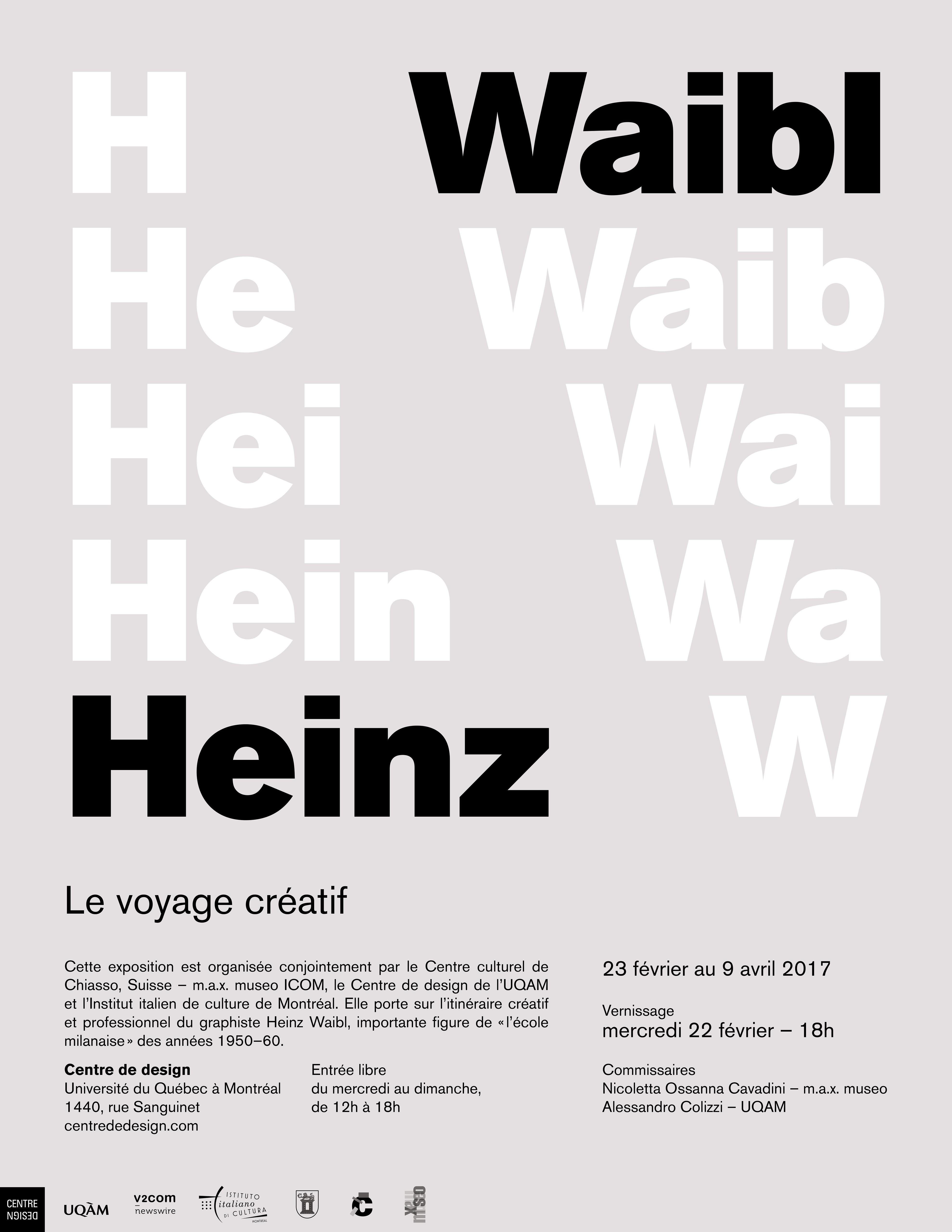 2017 - Exposition - Heinz Waibl Le voyage créatif © Camille Bégin