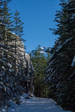 Snowshoeing Al's Habrich Ridge Trail