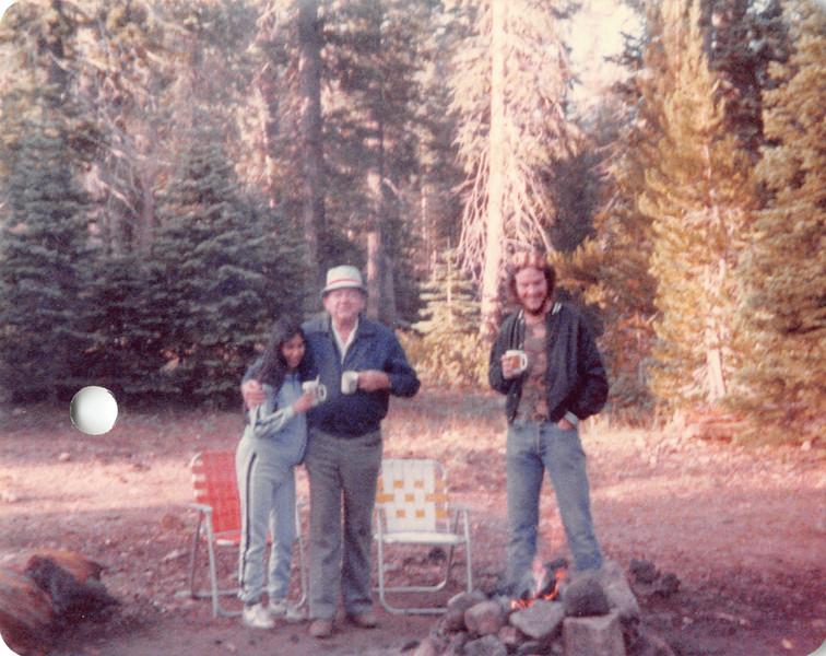 Pat, Ruben, David camping at Peppermint Creek