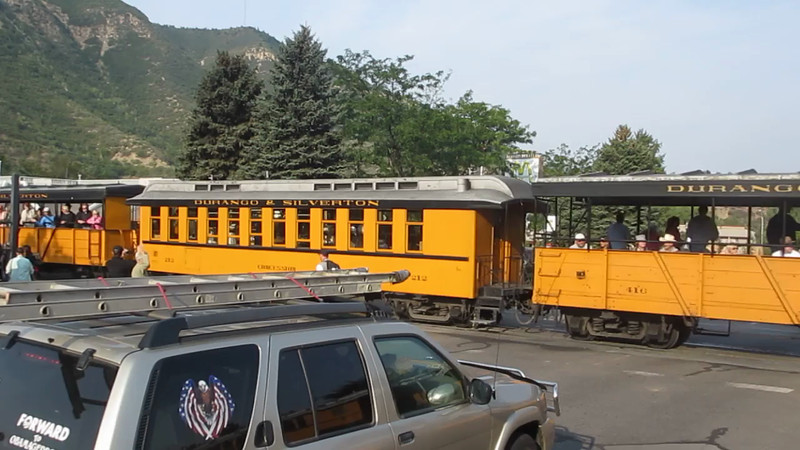 Durango, Colorado, scenes and DoubleTree Durango Hotel Scenes Mini Movie - This is the train I take on Friday, 17th, to Silverton, CO, and return.