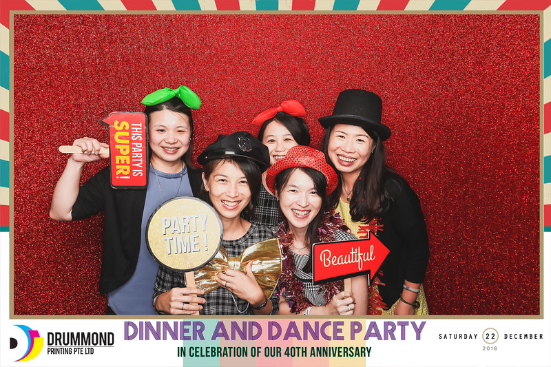 Drummond Printing Pte Ltd - D&D & 40th Anniversary | © www.SRSLYPhotobooth.sg