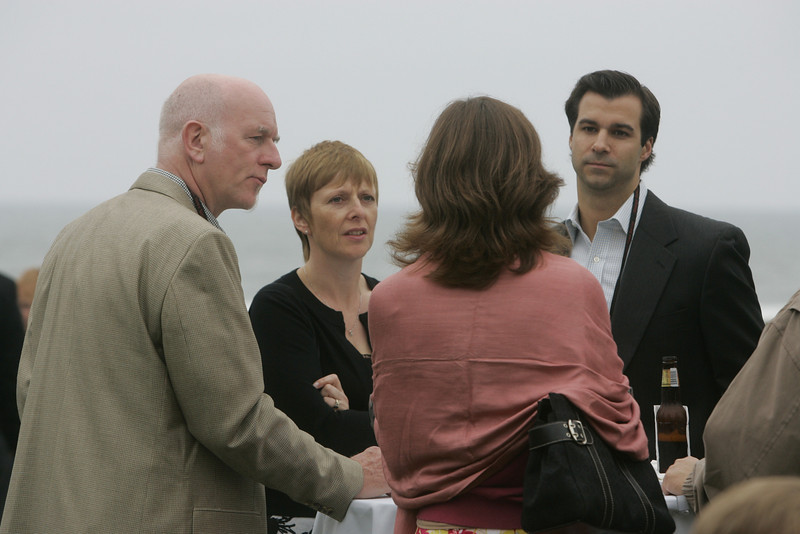 (L-R) Howard Wright and guest, Chenoa Farnsworth, and Stan DeLaney
