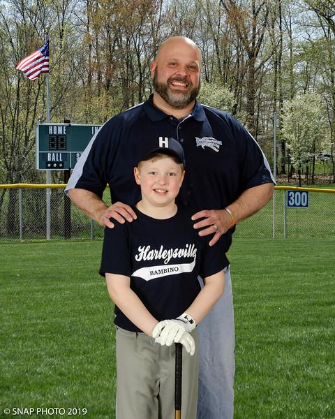 2019 Harleysville Baseball Coach-Player Photos