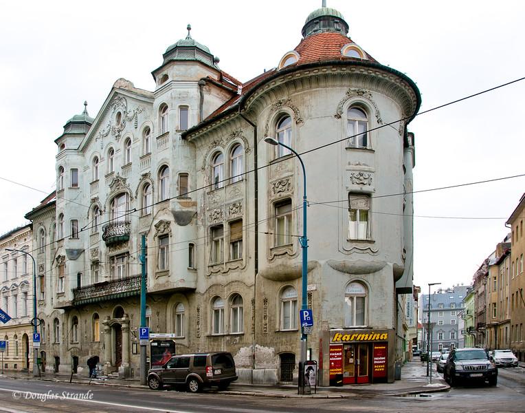 In Bratislava, classic old buildings
