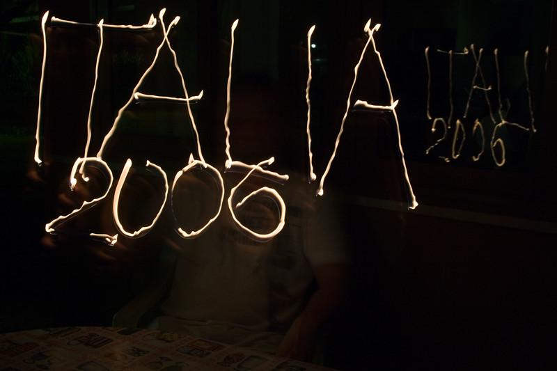 Creatief met een aansteker: Italia 2006.