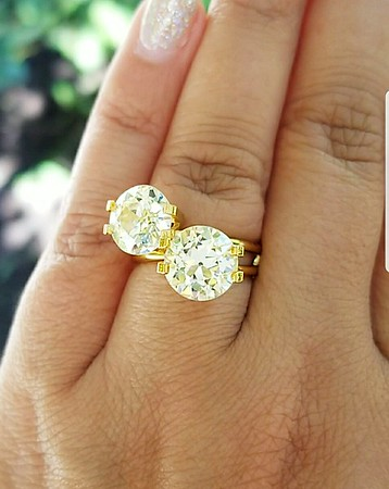 5.79ctw Old European Cut Diamond Matched Pair - AGS N and O, VS1