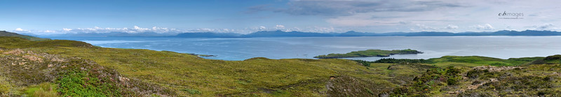 The mainland of west Scotland from Eigg
