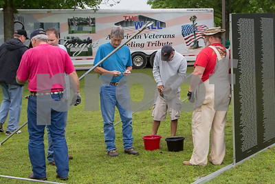 4/24/15 Vietnam Tribute Wall Set-Up by Don Spivey