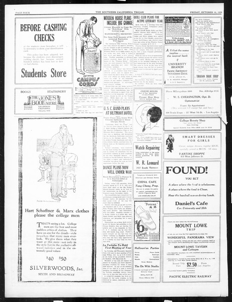 The Southern California Trojan, Vol. 16, No. 10, October 10, 1924
