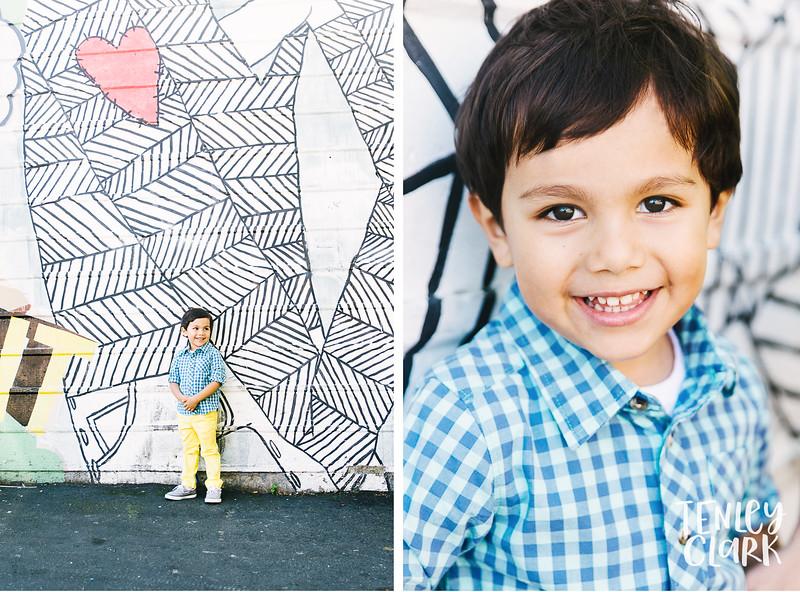 Kids model headshot portfolio session in Downtown San Jose by Tenley Clark Photography.