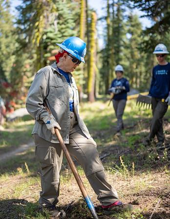 7-29-21 Rim Trail Boy Scouts Trail Work