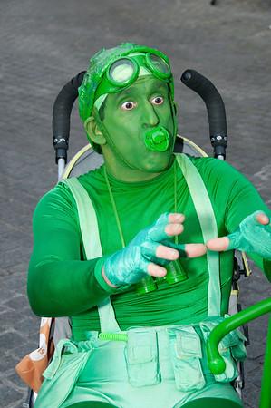 Green Man - Straatanimatie