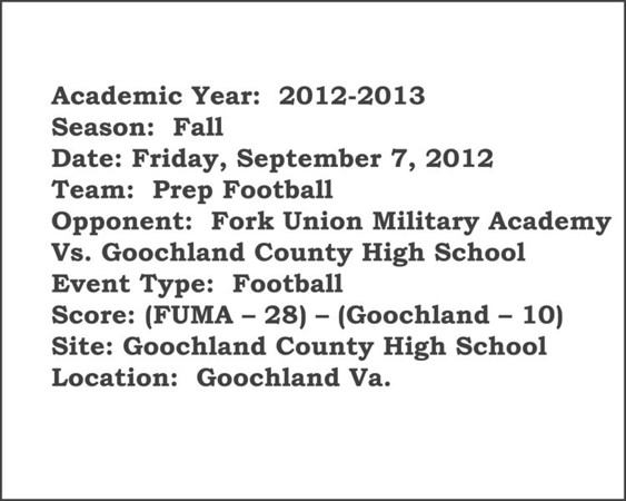 Prep Football vs Goochland