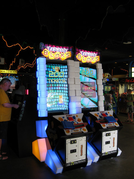 There was a new Tippin' Bloks skill redemption game at the Palace Arcade.