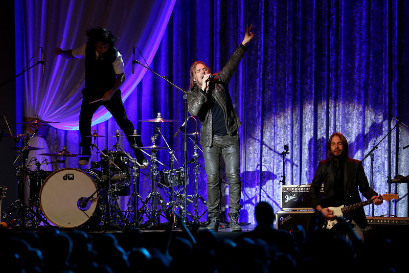 . Mana performs during the Public Inaugural Ball at the Walter E. Washington Convention Center on January 21, 2013 in Washington, DC. U.S. President Barack Obama was sworn in for his second term earlier in the day.  (Photo by Mario Tama/Getty Images)