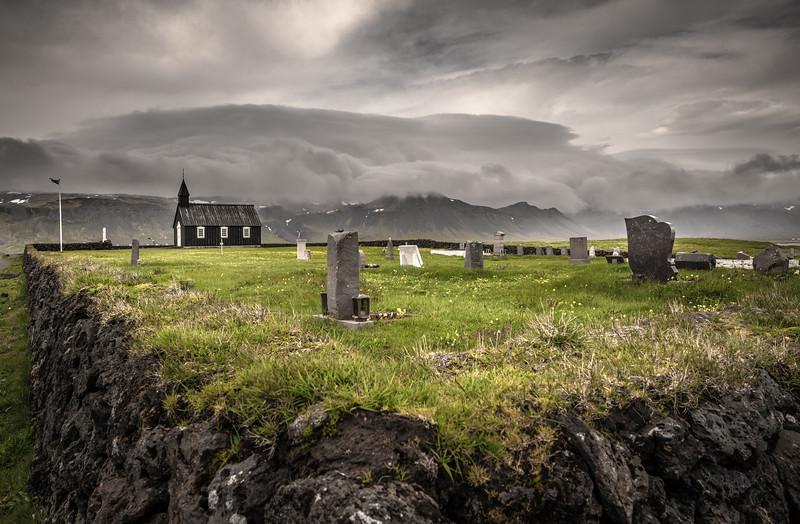 Iceland Church & Cemetery  Photography by Wayne Heim