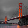 Golden Gate Bridge at Dusk Ba&W KW-124BW
