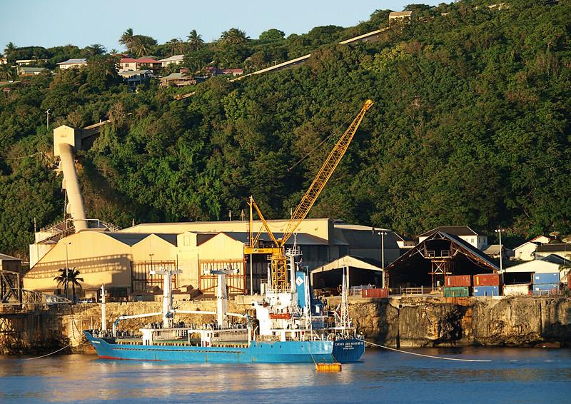 Image Title: Cargo Ship Loading.  Image No. p5035927b