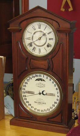 Ithaca Perpetual Calendar Clock with Pomeroy Movement