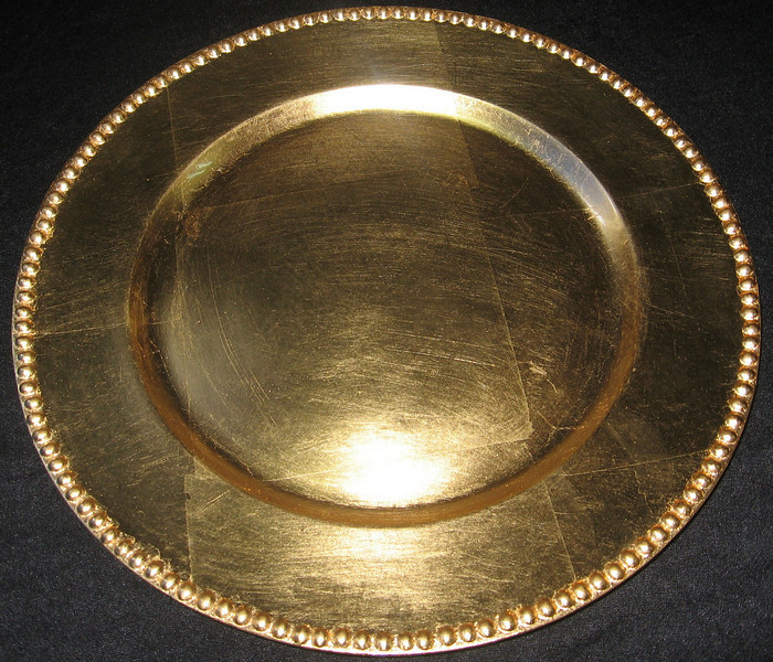 "13"" Gold Charger Plate CALL FOR PRICING & AVAILABILITY"