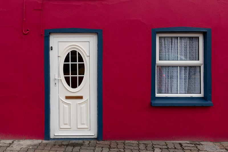 Fa�ade of Irish apartment, Kinsale, County Cork, Ireland