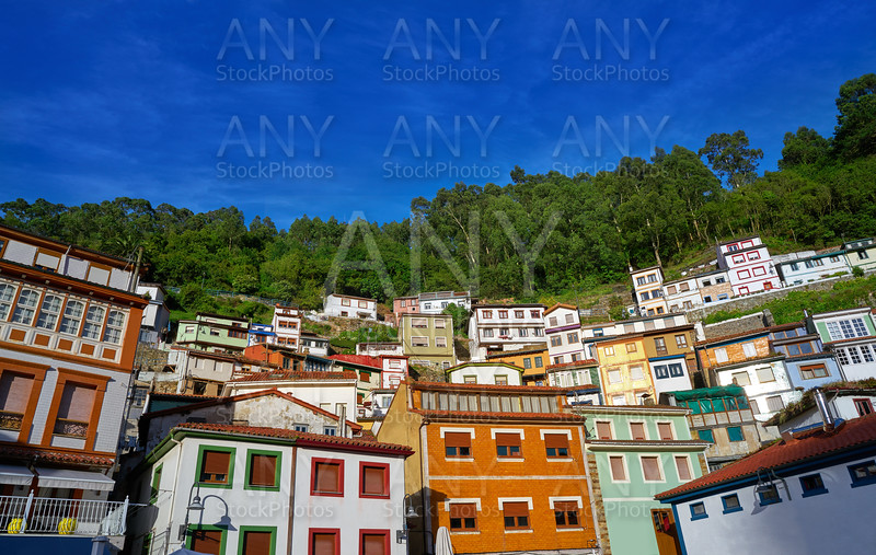 Cudillero village in Asturias Spain